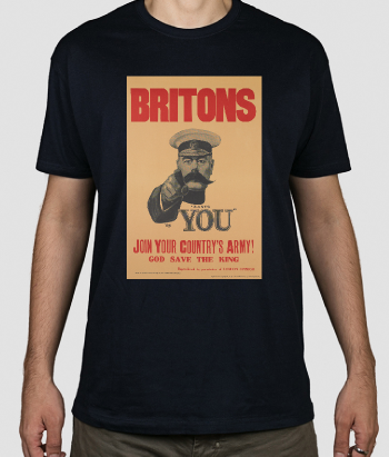 T-shirt militare poster Britons