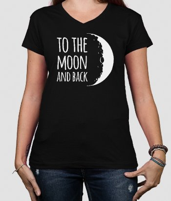T-shirt texte To the moon and back