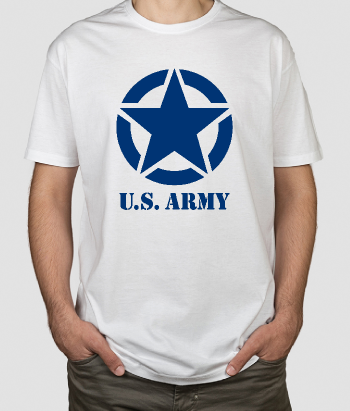 T-shirt logo US Leger