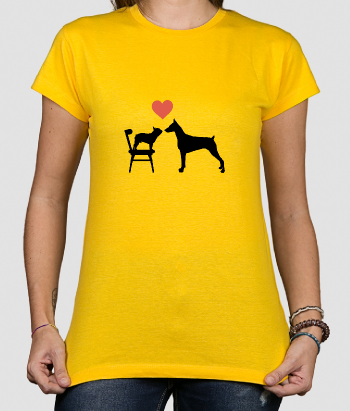 T-shirt cat loves dog