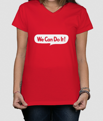 Camiseta retro We can do it