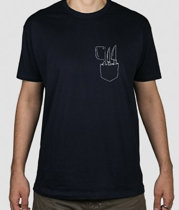 T-shirt zak messen