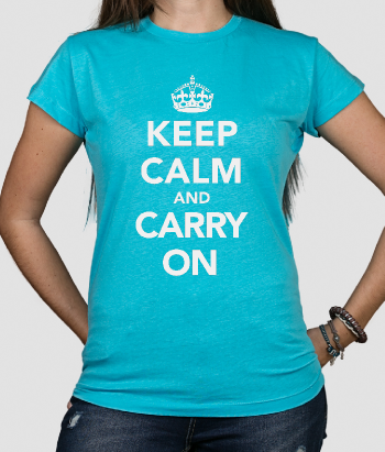 T-shirt con messaggio Keep Calm