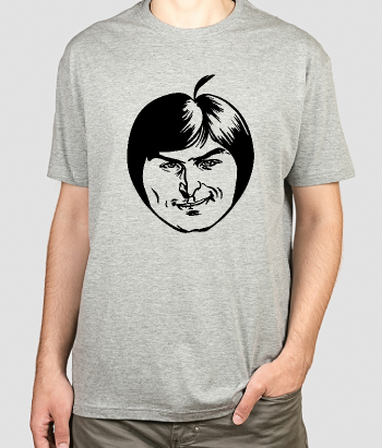 Camiseta divertida manzana Steve Jobs