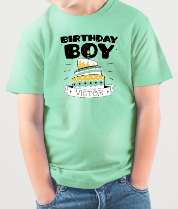 Customisable Birthday Boy T-Shirt