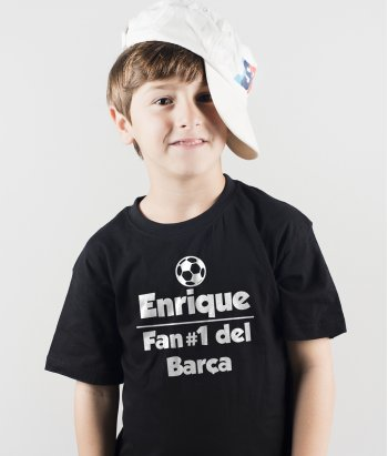 T-shirt Enrique fan nummer 1 Barca