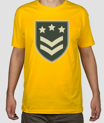 Camiseta logo army badge