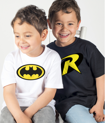 Pärchen T-Shirt Batman Robin Logo
