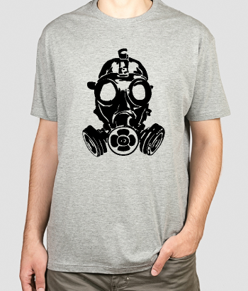 Camiseta divertida máscara de gas