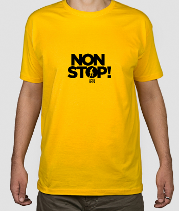 Non Stop Men's Text T-Shirt