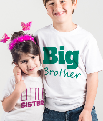 Camisola para duplas big brother little sister