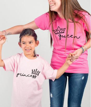 T-shirt coppia Queen e Princess
