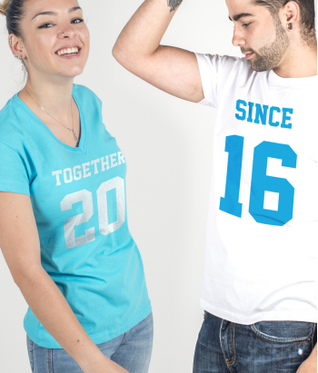 Camiseta dúo together since año