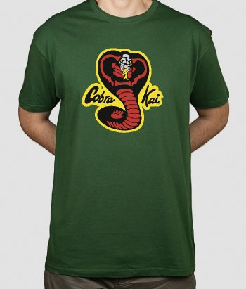 T-shirt cinema Karate Kid e Cobra Kai