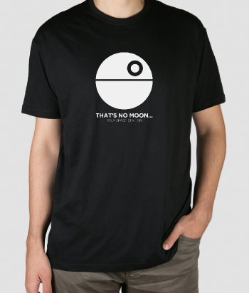 Space Station Star Wars T-Shirt