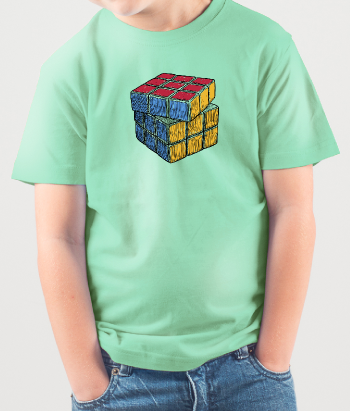 Rubix Cube Illustration T-Shirt