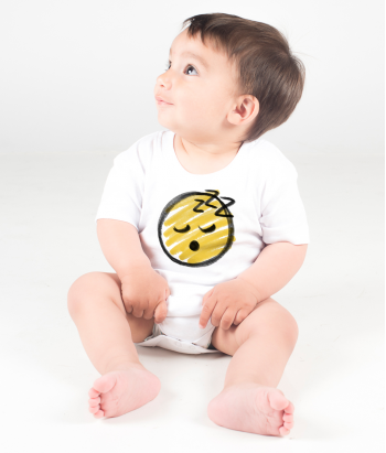 Camiseta emoticon durmiendo