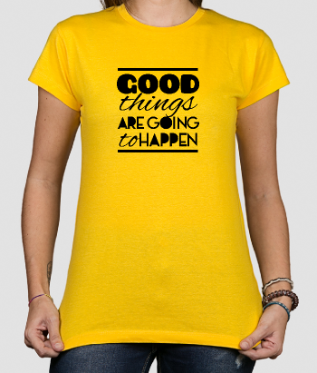 T-shirt com frase Good Things