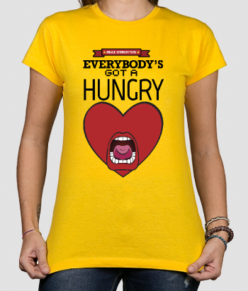 Camiseta música Hungry hearts