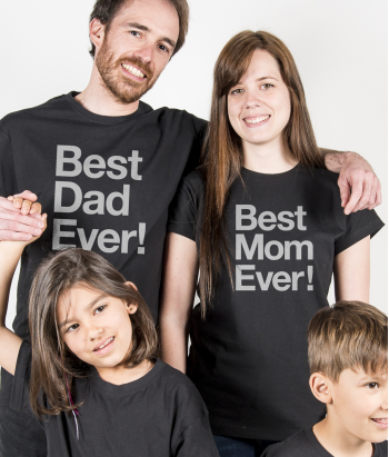 Pärchen T-Shirt Best Dad Best Mom