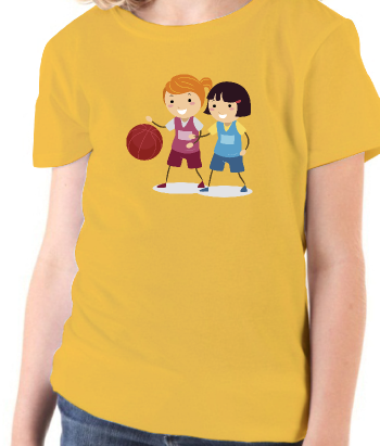 T-shirt jonge basketbalsters