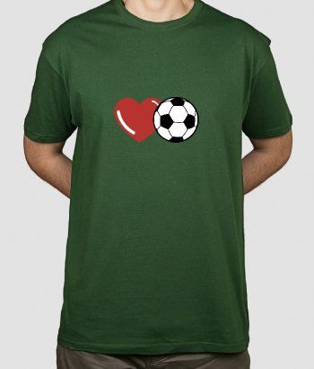 T-shirt amour football
