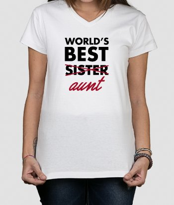 T-shirt world´s best aunt