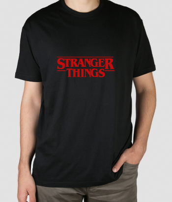 T-shirt logo Stranger Things