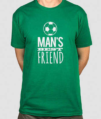 Football is a Man's Best Friend T-Shirt