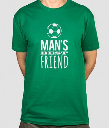 T-Shirt Fußball Man's best friend
