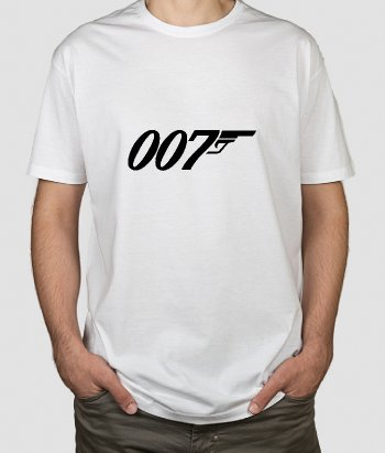 Camiseta cine  logo 007 James Bond