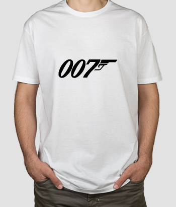 T-shirt logo 007 James Bond