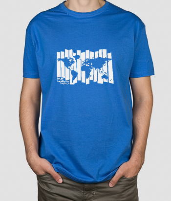 T-shirt wereldmap wonderfull world