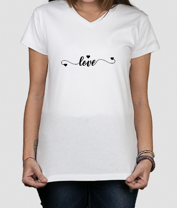 Love Text Calligraphy T-Shirt