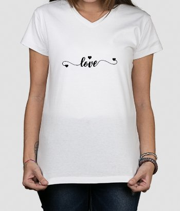 T-shirt love en hartjes