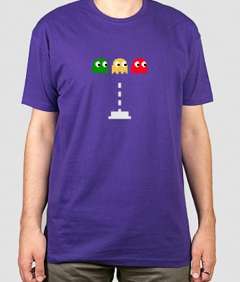 T-Shirt Spaceinvader PacMan