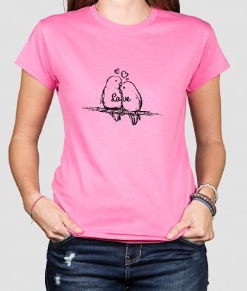 T-shirt love birds