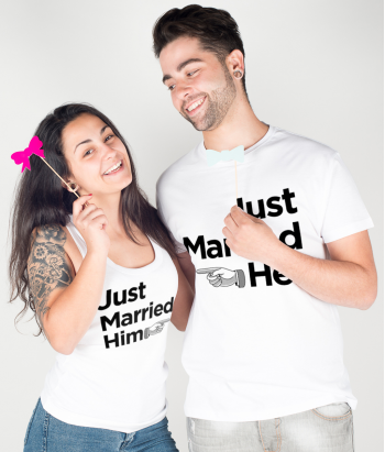 T-shirt coppia just married