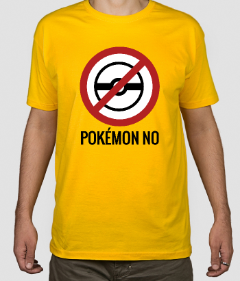 T-shirt Pokemon GO NO