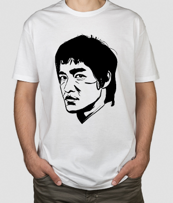 Film T-Shirt Porträt Bruce Lee