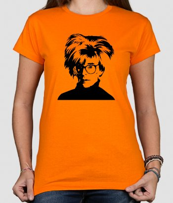 T-shirt originale ritratto Andy Warhol