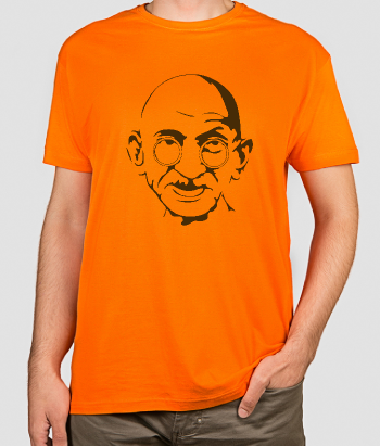 Camiseta original retrato Gandhi