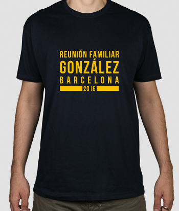 Camiseta personalizable Reunión familiar