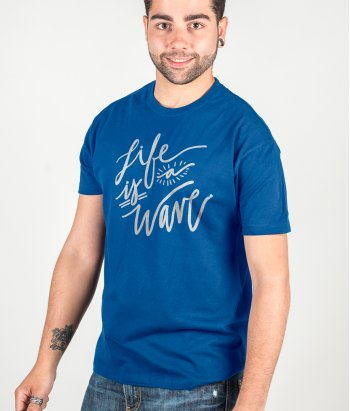 Camiseta surf Life is a wave
