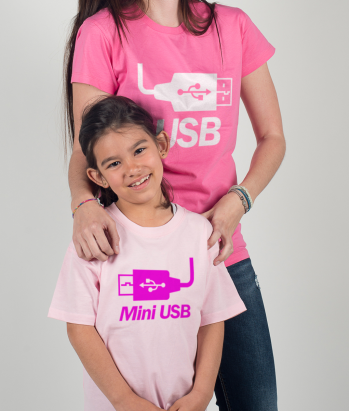 T-shirt DUO USB en Mini USB