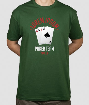 T-shirt Poker team personaliseerbaar