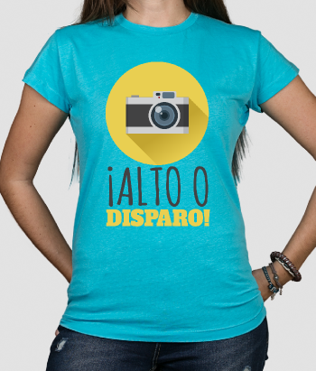Camiseta divertida Alto o disparo