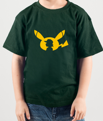 T-shirt geek pikachu pokemon go