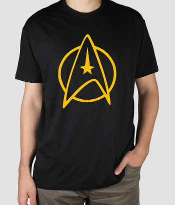 T-shirt geek logo Star Trek