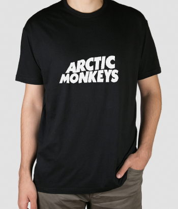T-shirt musica logo Arctic Monkeys